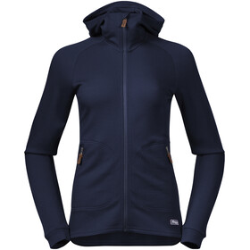 Bergans Tuva LT Hooded Wool Jacket Women navy